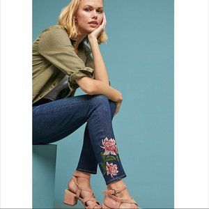 Jen7 by 7 For All Mankind Embroidered  Ankle Jeans